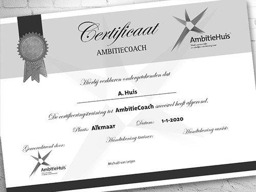 AmbitieCoach certificering