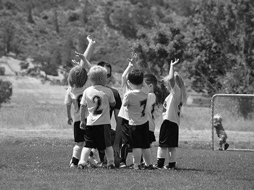 Team van kleine kids